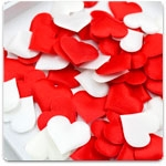 Сердца  и лепестки роз