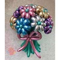 Букет из ромашек 15 штук  (воздушные шары цвета хром)