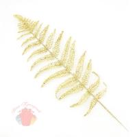 Листья папоротника искусственные Золотые