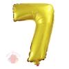 Фольгированный шар с клапаном Цифра, 7 (16/41 см)