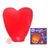 Фонарь желаний, форма сердце, цвет: красный