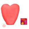 Фонарь желаний в форме сердца большой