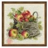 Набор для вышивания крестом Спелые яблоки 30*30 см