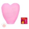 Небесный фонарик в форме сердца, цвет розовый