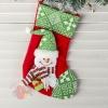 Носок для подарка Подарочек 18,5*26 см, снеговик зелёный