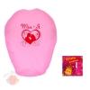 Фонарь желаний в форме сердца розовый Ты+Я