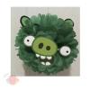 Помпоны из бумаги Гадкая  зеленая свинья (Angry Birds) 25 см