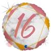 """Цифра """"16"""" Мрамор Розовое золото"""