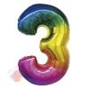 """Цифра """"3"""" радуга в упаковке / Zero"""