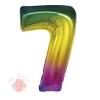 """Цифра """"7"""" радуга в упаковке / Zero"""