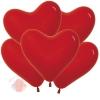 """Воздушные шары Сердце Красный, Пастель Red 12""""/30 см  (12 шт.)"""