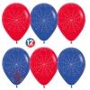 Воздушный шар Паутинка, Красный (015) / Синий (041), пастель, 5 ст, 12 шт.