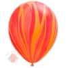 "Воздушный Шар Q 11"" Супер Агат Red Orange (25 шт.)"