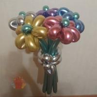Цветы из шаров «Хром» 5 штук.